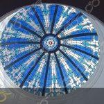 یزد ; ساخت گنبد شیشه ای دکوراتیو – با تکنیک تیفانی – استیند گلس