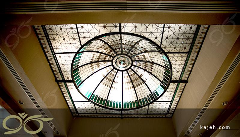 گنبد شیشه ای بانک توسعه صادرات ; ساخت با شیشه های استین گلس
