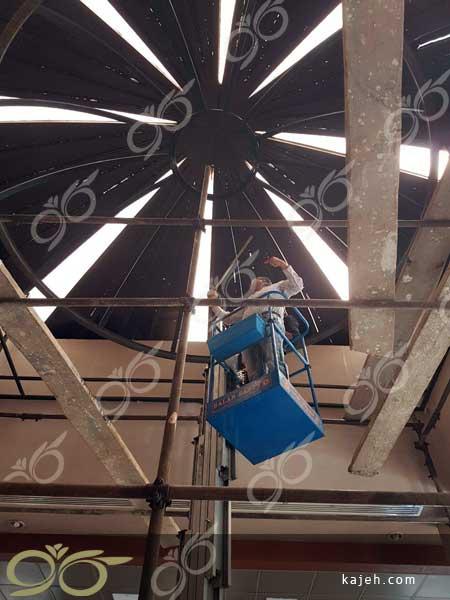 گنبد شیشه ای بانک توسعه صادرات - ساخته شده با تکنیک استین گلس و تیفانی