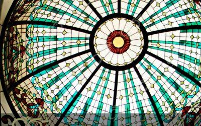 زعفرانیه ; ساخت گنبد شیشه ای دکوراتیو – با تکنیک تیفانی – استیند گلس