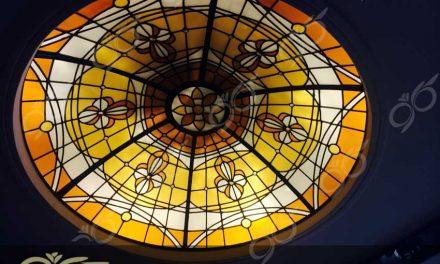 منظریه ; ساخت گنبد شیشه ای دکوراتیو – با تکنیک تیفانی – استیند گلس