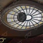 ولیعصر تهران ; ساخت گنبد شیشه ای دکوراتیو با مقطع بیضی – با تکنیک استیندگلس ( استین گلاس )