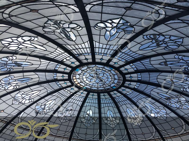بیرجند ; ساخت گنبد شیشه ای دکوراتیو – با تکنیک تیفانی – استیند گلس
