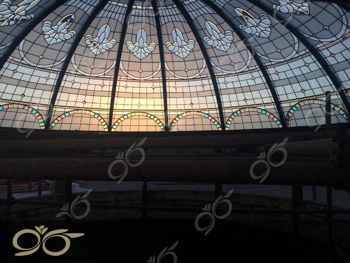 گنبد شیشه ای بیرجند - تکنیک ساخت استیند گلس ( استین گلاس )