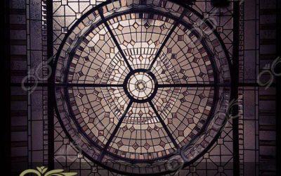 گنبد شیشه ای نارنجستان ; ساخت با شیشه ها دکوراتیو استیند گلس ( استین گلاس )