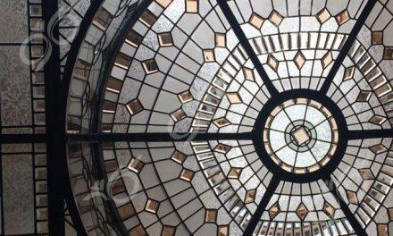 نارنجستان ; ساخت گنبد شیشه ای دکوراتیو – با تکنیک تیفانی – استیند گلس