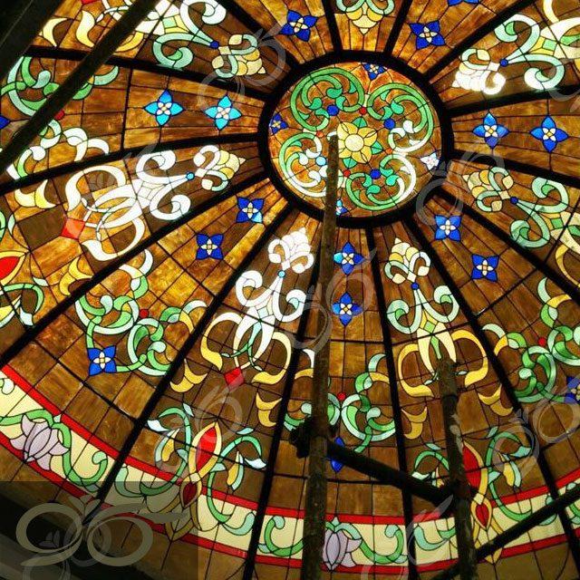 ارومیه ; ساخت گنبد شیشه ای دکوراتیو – با تکنیک تیفانی – استیند گلس