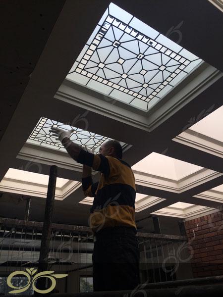 سقف نورگیر شیشه ای خیابان البرز