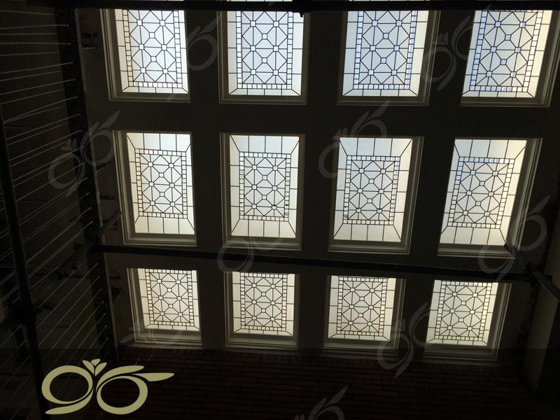 خیابان البرز – سقف نورگیر شیشه ای استیند گلس