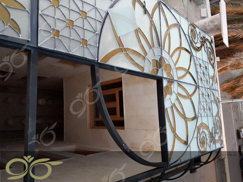 سقف نورگیر و دکوراتیو مسجد جابری بندر عباس