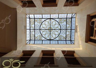 سقف نورگیر مسجد جابری