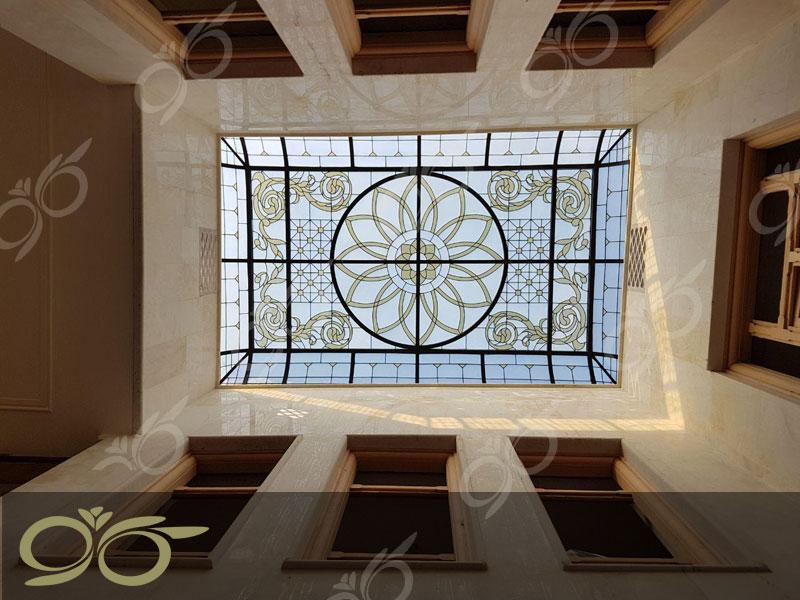 سقف نورگیر شیشه ای استیندگلس – پروژه مسجد جابری بندرعباس