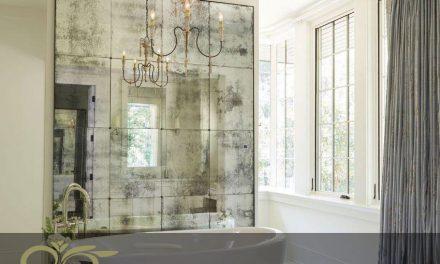 استفاده از آینه آنتیک و پتینه شده در حمام
