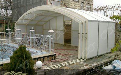 استخر بازشو – پروژه گوهردشت کرج ( سقف متحرک با پوشش پلی کربنات )
