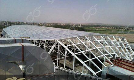 تنکابن ; سقف نورگیر پلی کربنات برای پاساژ