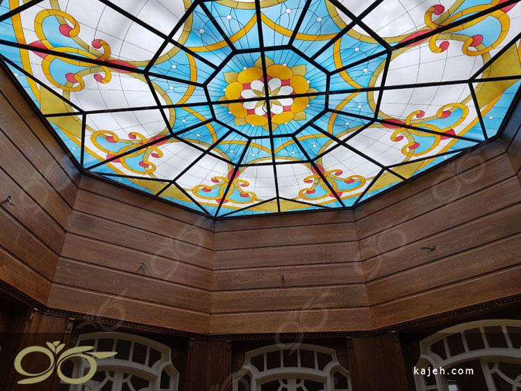 سقف نورگیر شیشه ای 8 ضلعی در ساری