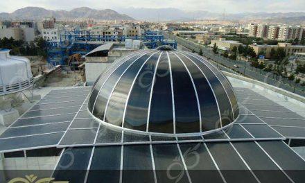 سمنان ; سقف نورگیر پلی کربنات گنبدی شکل – گنبد پلی کربنات با ورق های دودی