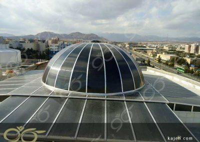 نورگیر پلی کربنات گنبدی شکل - کتابخانه مرکزی سمنان