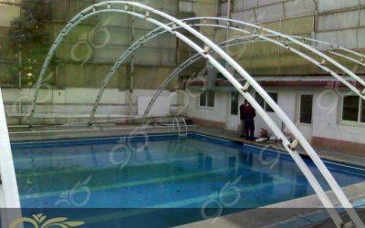 اجرای سقف استخر با پلی کربنات در نیاوران