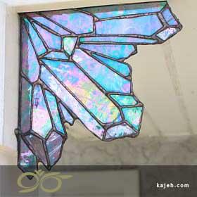 شیشه تزئینی استین گلس - مدل عنکبوتی
