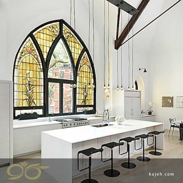 کاربرد شیشههای رنگی در معماری مدرن