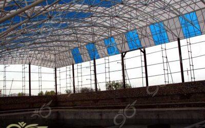 تفرش ; پوشش سقف استخر با ورق پلی کربنات