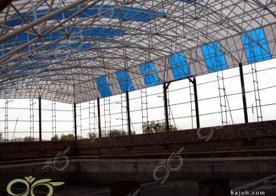 پوشش سقف استخر عمومی - تفرش