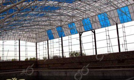 تفرش ; پوشش سقف پلی کربنات برای استخر