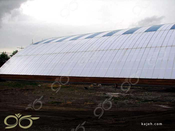پوشش سقف پلی کربنات برای استخر تفرش