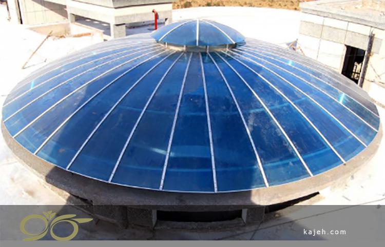 گنبد های ساخته شده به عنوان نور گیر با ورق پلی کربنات