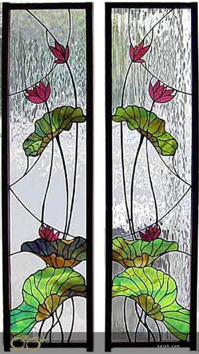 درب شیشه ای تزئینی