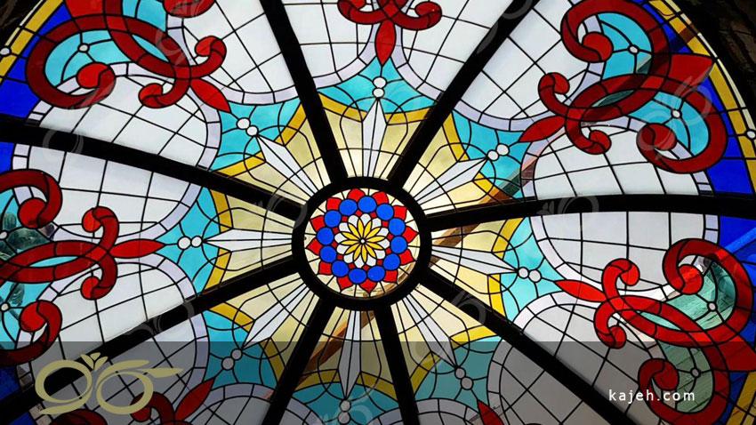 چیتگر ; ساخت گنبد دکوراتیو شیشه ای با تکنیک استیند گلس – تیفانی