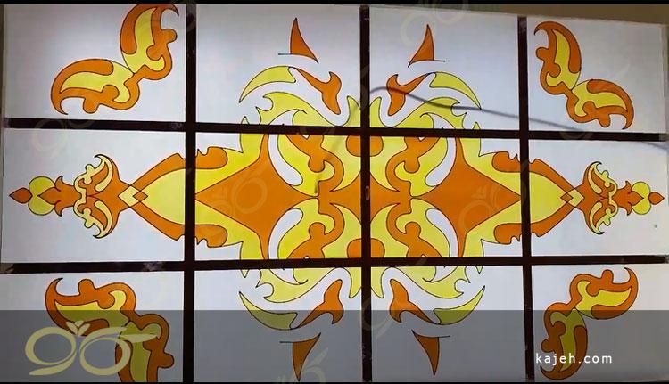 میرداماد ; سقف نورگیر شیشه ای تزئینی