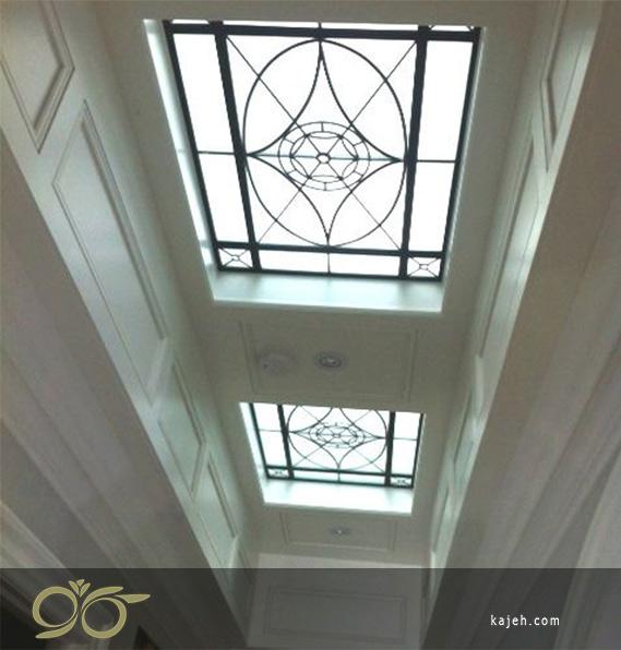 پوشش های سقف با شیشه های تزئینی استیند گلس