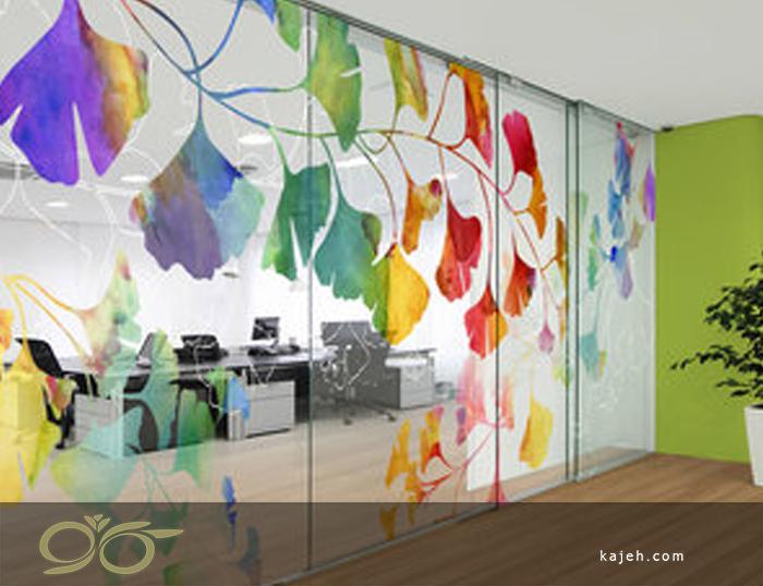 زیبایی و طراحی دیوارپوش شیشه ای