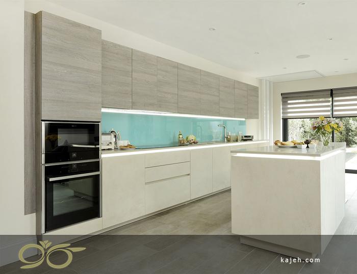 دیوار پوش شیشه ای مخصوص آشپزخانه