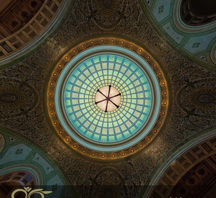 نقش گنبدهای شیشه ای استیند گلس در فضاهای فرهنگی و هنری