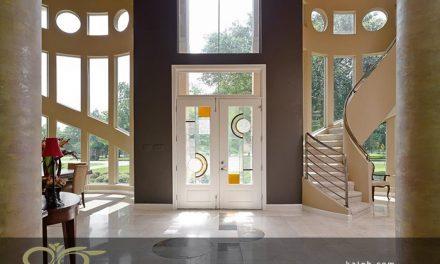 نصب شیشه های درب لابی با طرح های متفاوت
