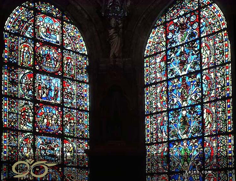 شیشه های استیند گلس تنوع طرح های استیند گلس در کلیسای دیر سن دنی