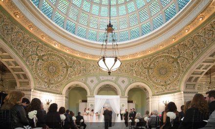طرح بی نظیر گنبد شیشه ای با تکنیک تیفانی مرکز فرهنگی شیکاگو