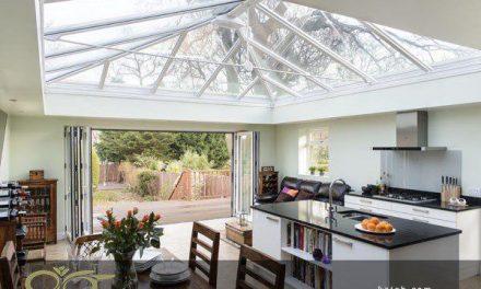 سقف نورگیر شیشه ای استین گلاس برای خانه های ویلایی
