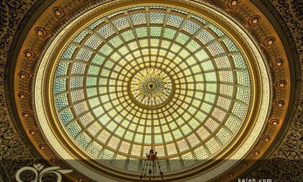 گنبدهای شیشه ای مدرن برای سقف ساختمان ها