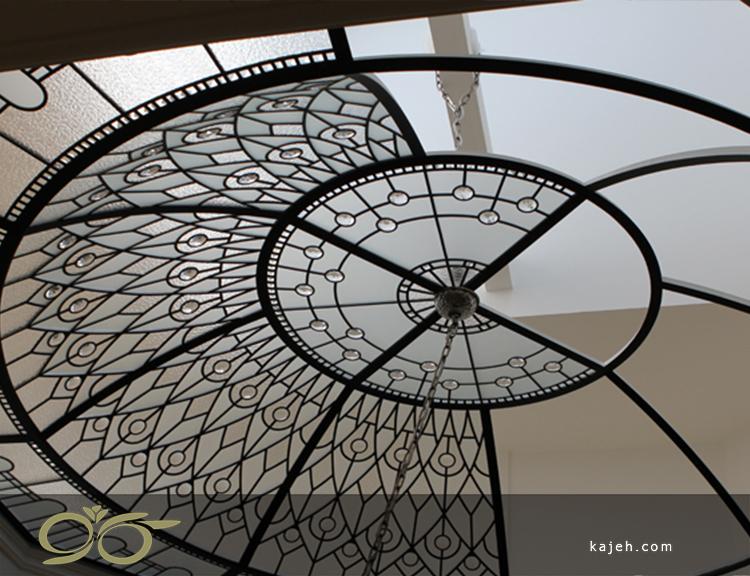 ساخت گنبد استیند گلس ( استین گلاس ) ; گنبد شیشه ای دکوراتیو و تزئینی