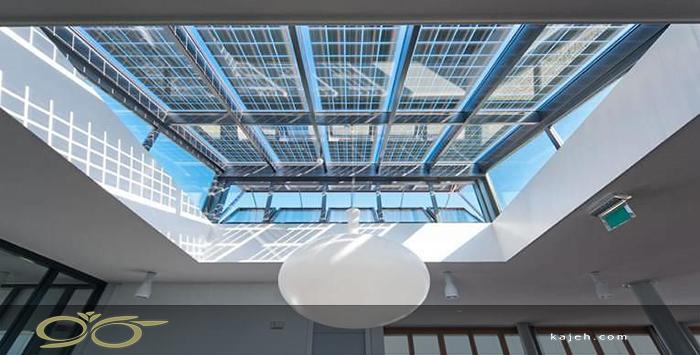سقف نورگیر شیشه ای دکوراتیو برای ساختمان های تجاری