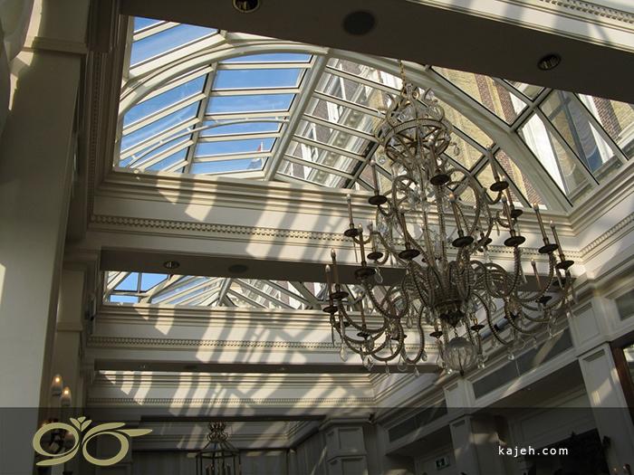 سقف نورگیر شیشه ای برای هتل ها