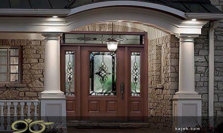 انواع شیشه های تزئینی برای درب لابی
