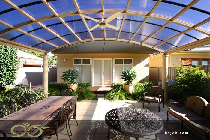 نورگیر سقفی پلی کربنات در فضای عمومی