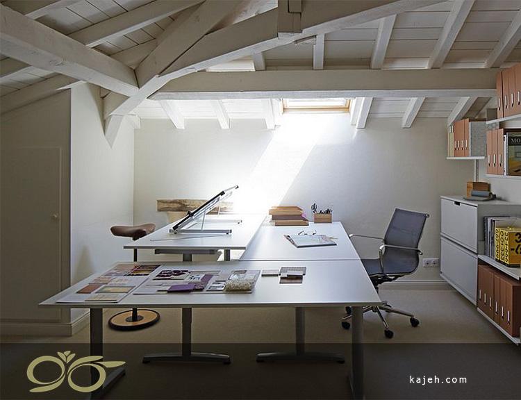 20 ایده مدرن برای نورگیرهای سقفی موجود در خانه هایی با کاربری دفتر کار