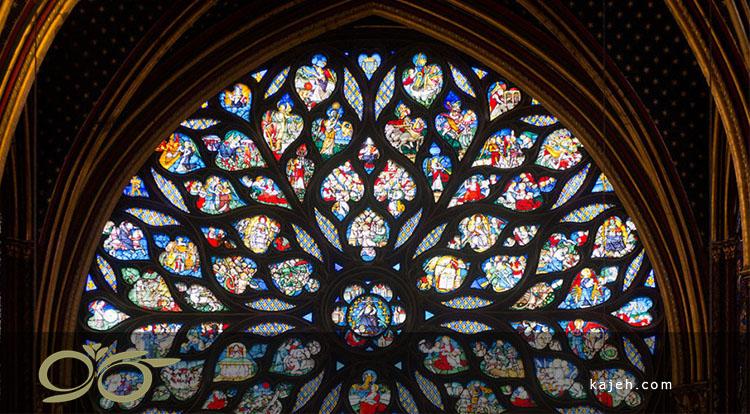 پنجره های استیند گلس در کلیسای Sainte Chapelle فرانسه