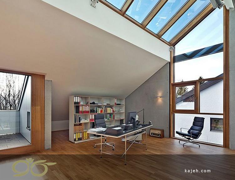 0 ایده مدرن برای نورگیرهای سقفی موجود در خانه هایی با کاربری دفتر کار